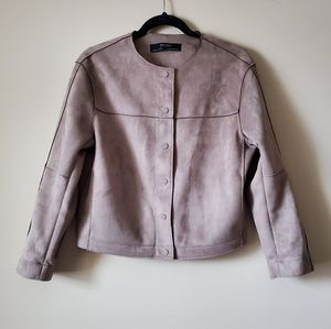 Zara Basic faux Suede Effect Jacket size M